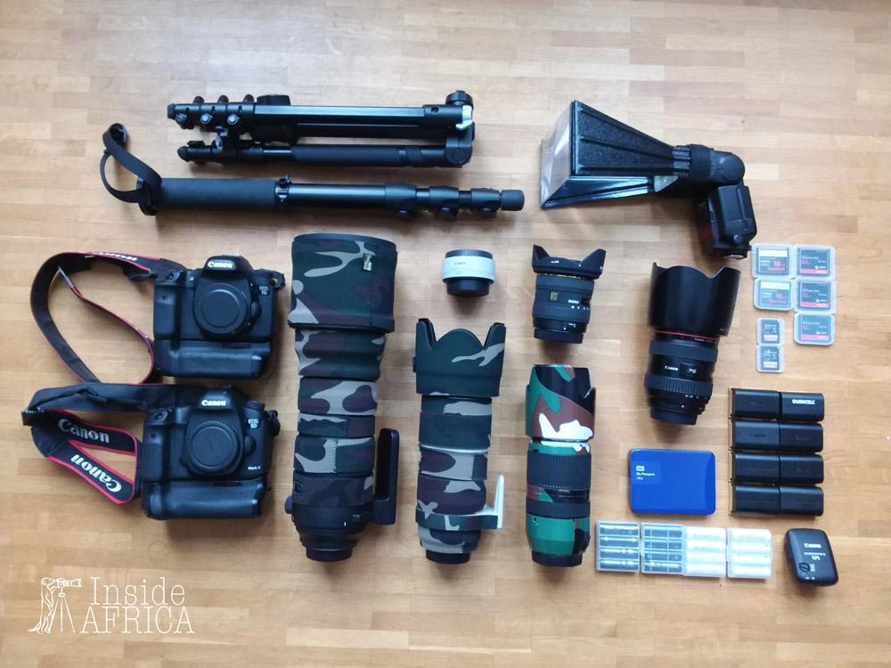 Unsere Safari Fotoausrüstung